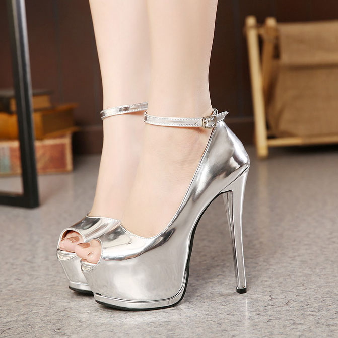 b262f1d8f7e showimg (1). Shoespie Patent Leather Peep-toe Platform Heels. showimg. Shoespie  Cut outs ...